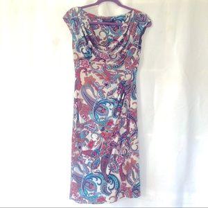 Lauren sleeveless drape neckline dress